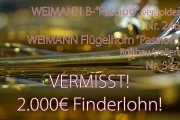 Instrumente vermisst – Finderlohn!